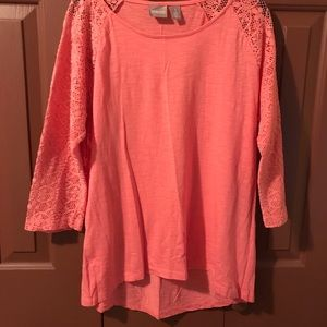 Chico's Long Sleeve Lace Top